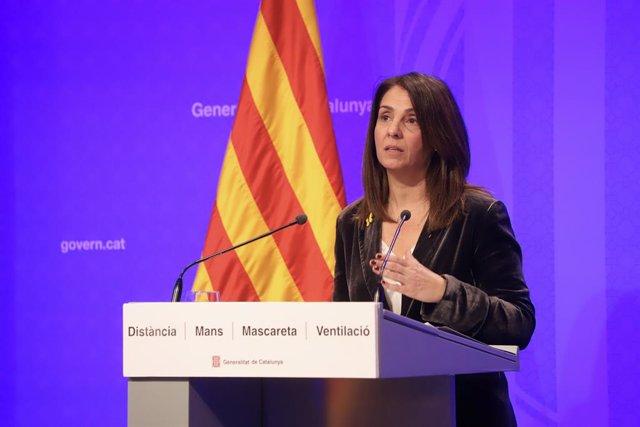 La consellera de Presidència i portaveu del Govern, Meritxell Budó