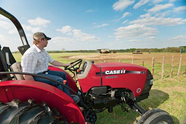 Archivo - Tractor de Case IH (CNH Industrial).