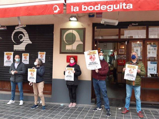 Protesta por la reapertura de los interiores de bares y restaurantes