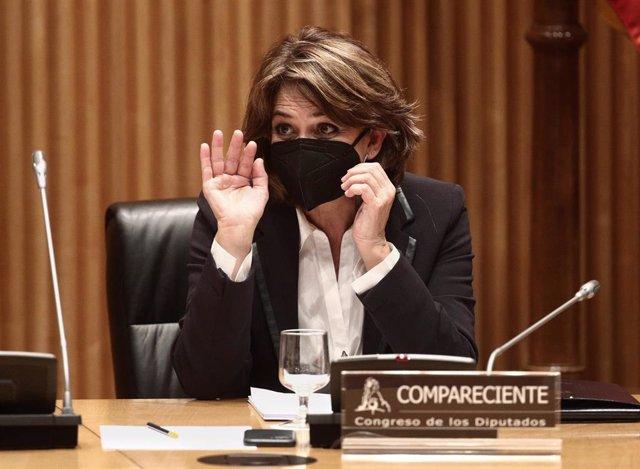 La Fiscal General del Estado, Dolores Delgado,en el Congreso