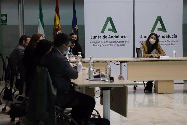Firma de convenios de depuración entre la Junta y ayuntamientos sevillanos