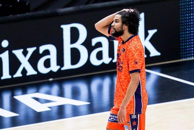 Archivo - Louis Labeyrie, jugador del Valencia Basket