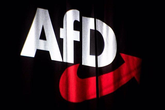 Archivo - Logotipo de la formación ultraderechista Alternativa por Alemania (AfD) en un acto en Brunswick