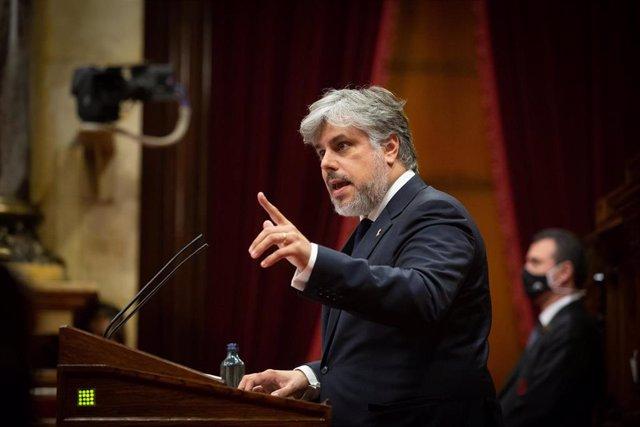Archivo - El presidente de JxCat en el Parlament, Albert Batet, en una foto de archivo.