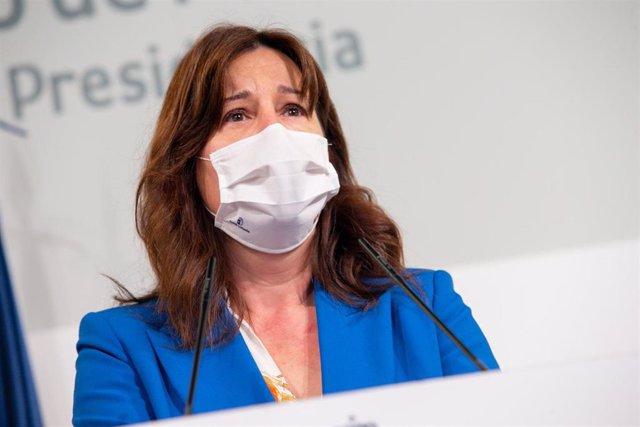 La consejera de Igualdad y portavoz del Gobierno regional, Blanca Fernández, comparece en rueda de prensa para informar sobre los acuerdos del Consejo de Gobierno.