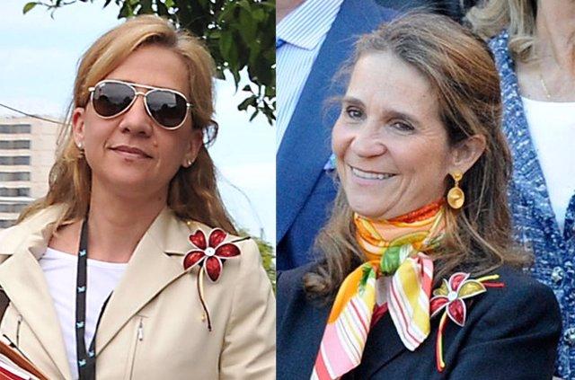 Archivo - Las infantas Elena y Cristina de Borbón.