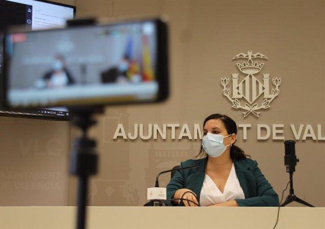 La vicealcaldesa de València, Sandra Gómez, en una imagen de archivo.