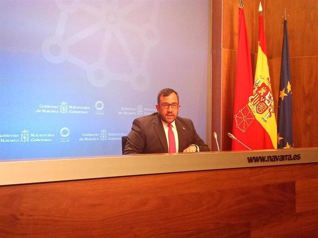El portavoz del Gobierno foral, Javier Remírez.