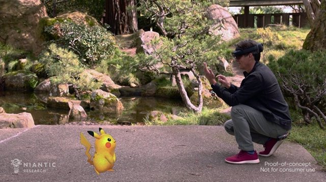 Pokémon GO en Microsoft Mesh.