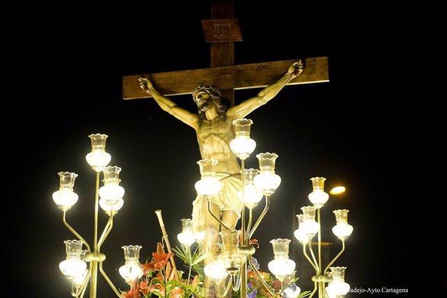 Archivo - La Cofradía del Santísimo Cristo de los Pescadores de Cabo de Palos preparando su Semana Santa en 2019