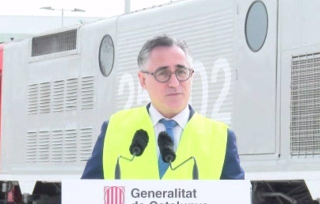 El conseller de Empresa y Conocimiento de la Generalitat, Ramon Tremosa, este miércoles en el Puerto de Barcelona