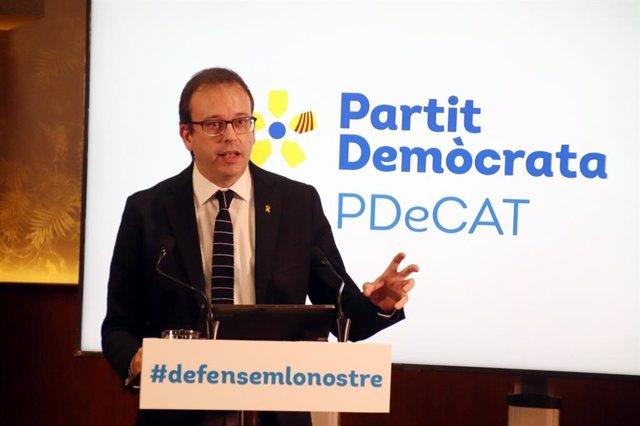 Archivo - Arxiu - El candidat del PDeCAT per Lleida, Marc Solsona.