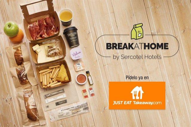 Sercotel y Just Eat firman un acuerdo para enviar desayunos a domicilio.