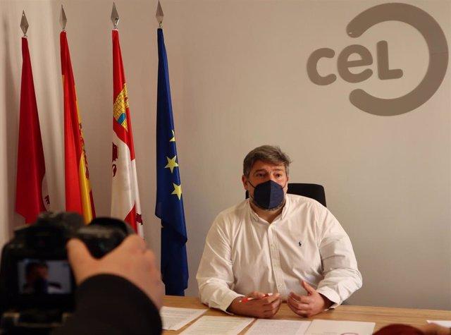El presidente del Círculo de Empresarial Leonés, Julio César Álvarez, en la sede de la asociación.
