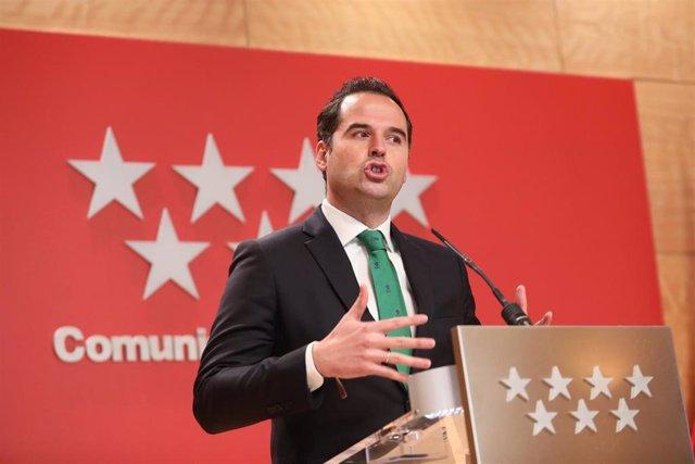 Iganacio Aguado, vicepresidente de la Comunidad de Madrid