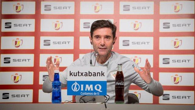 El entrenador del Athletic Club, Marcelino García Toral, en rueda de prensa previa a partido de la Copa del Rey