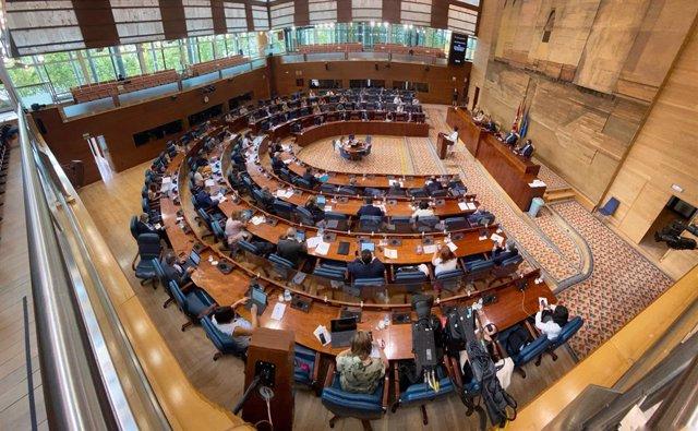 Archivo - Hemiciclo de la Asamblea de Madrid durante el debate del Estado de la Región, en Madrid (España), a 14 de septiembre de 2020. Se trata del primer debate del Estado de la Región para la presidenta, que está marcado por la gestión de la crisis san