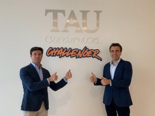 Mariano Sebastiá,director ejecutivo de TAU Cerámica y Jesús Ferrer