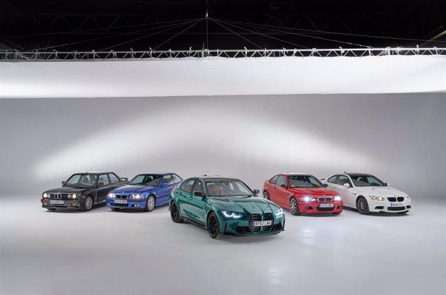 Distintas generaciones del BMW M3.