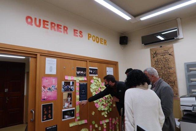 El conseller de Promoción Económica y Desarrollo Local del Consell de Mallorca, Jaume Alzamora, y el director insular de Juventud, Alex Segura, en una visita a Sóller.