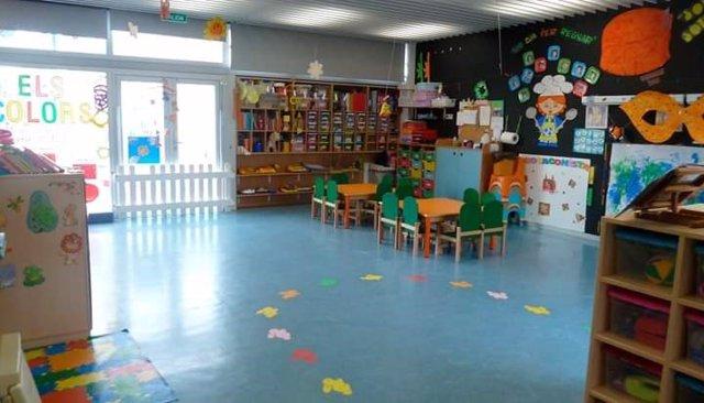 Archivo - Imagen del aula de un colegio.