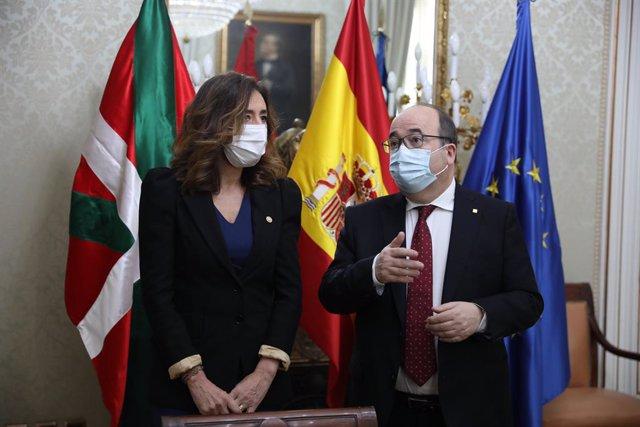El ministre de Política Territorial i Funció Pública, Miquel Iceta, durant una reunió de treball (Arxiu)