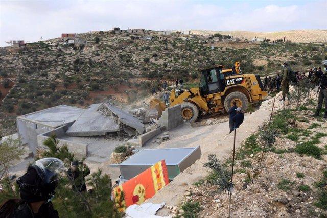 Demolición de una vivienda palestina en Cisjordania