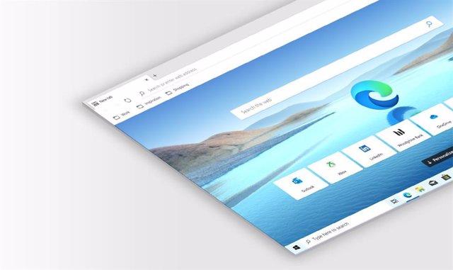 Archivo - El navegador Microsoft Edge