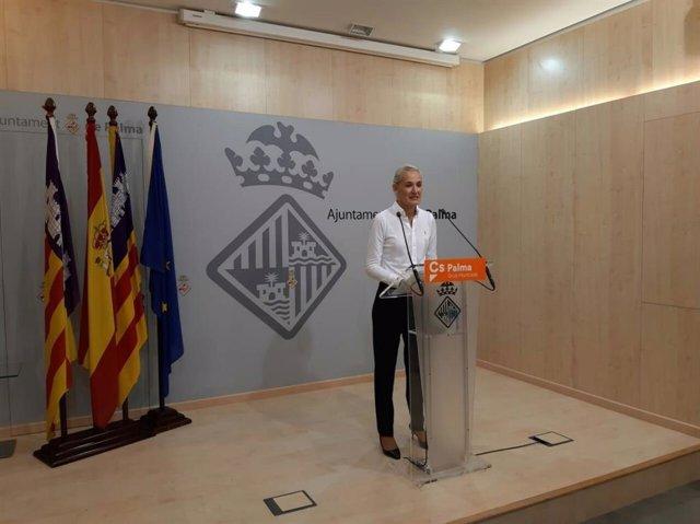 Archivo - La portavoz de Ciudadanos en el Ayuntamiento de Palma, Eva Pomar.