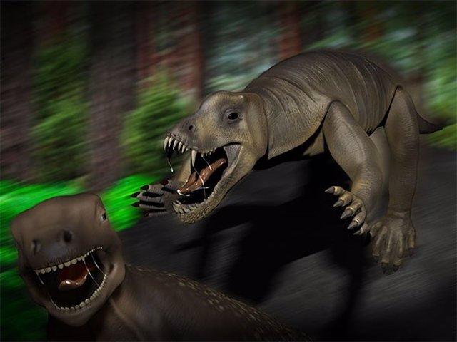 Recreación de anteosaurus