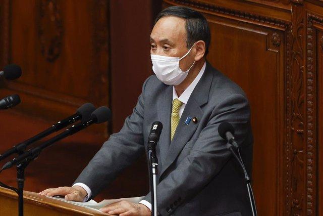 Archivo - Yoshihide Suga, primer ministro de Japón.