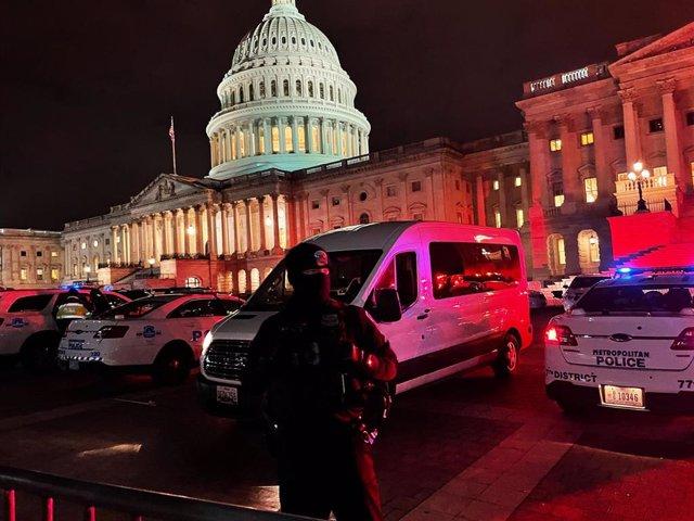 Horas después del asalto al Capitolio perpetrado el 6 de enero.