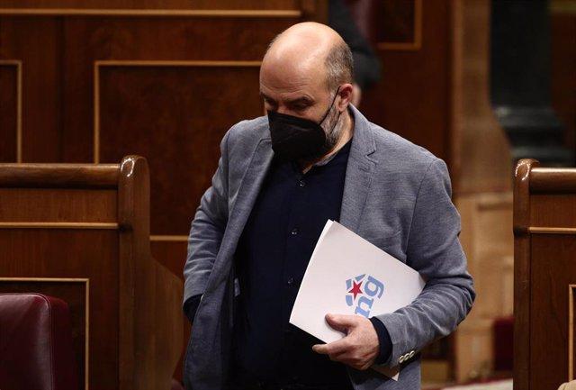 El portavoz del BNG en el Congreso, Néstor Rego