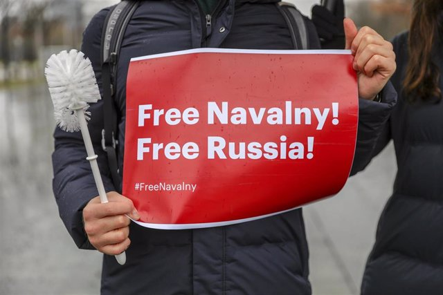 Archivo - Protesta en apoyo de Alexei Navalni en Berlín