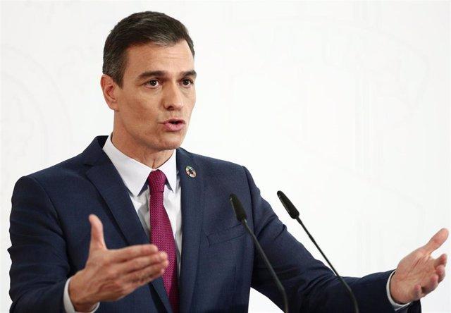 Archivo - El presidente del Gobierno, Pedro Sánchez, en Moncloa el 29 de diciembre, en una foto de archivo