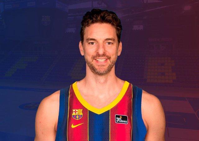 El jugador de baloncesto Pau Gasol, en su vuelta al Barça para disputar el tramo final de la temporada 2020/21