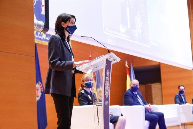La presidenta del Senado, Pilar Llop, en la inauguración de las V Jornadas de Igualdad de la Policía Nacional.