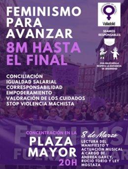 Convocatoria de una de las concentraciones del 8M en Valladolid.