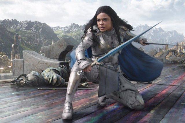 Valkyria (Tessa Thompson) cambia de apariencia en el rodaje de Thor: Love and Thunder