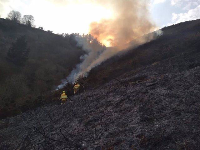 Incendio extinguido hoy en Aloños.