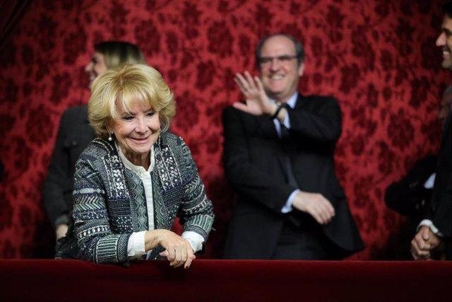 Archivo - La expresidenta de la Comunidad de Madrid y expresidenta del Senado, Esperanza Aguirre