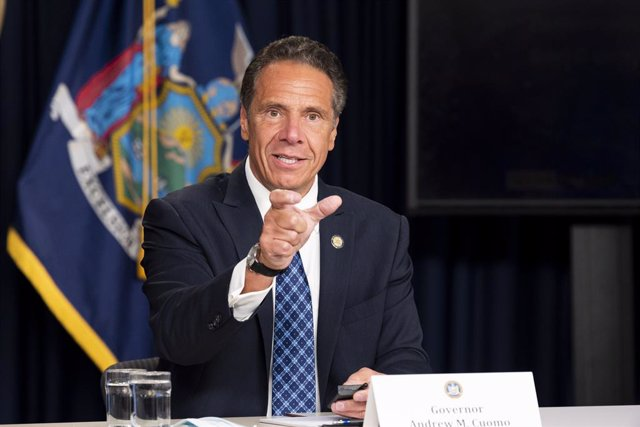 Archivo - 17 August 2020, US, New York: New York State Governor Andrew Cuomo speaks at a press conference. Photo: Michael Brochstein/ZUMA Wire/dpa