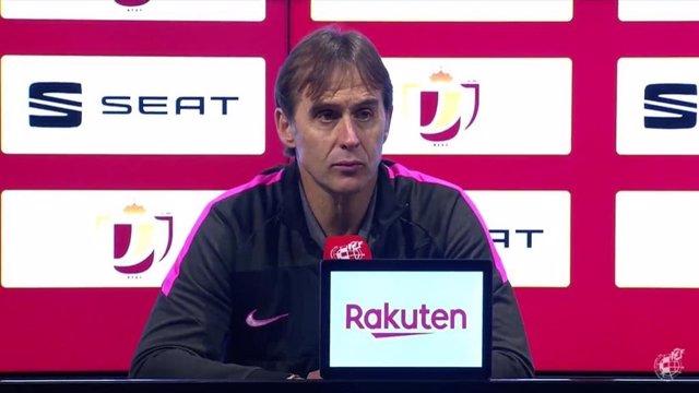 Julen Lopetegui, técnico del Sevilla FC