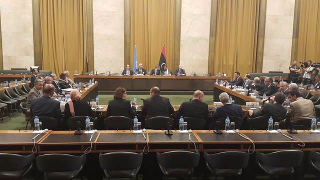 Archivo - Imagen de archivo de negociaciones libias en Ginebra