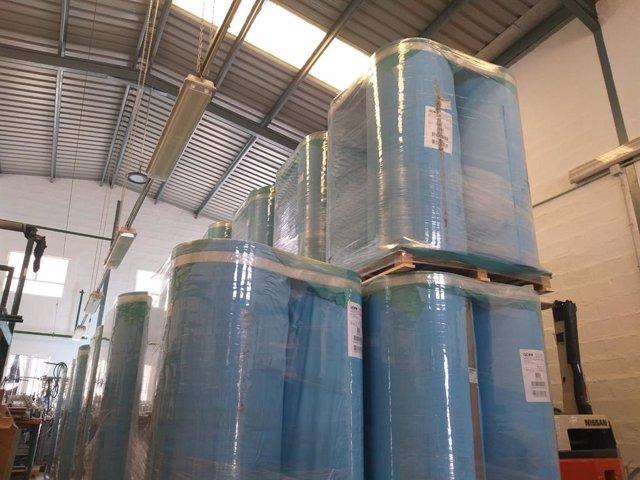 Fábrica de Texlencor que fabrica material sanitario situada en Alozaina