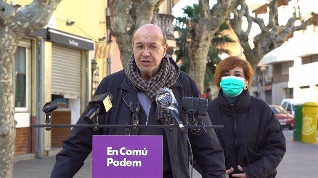 Archivo - El número dos de los comuns a las elecciones catalanas, Joan Carles Gallego
