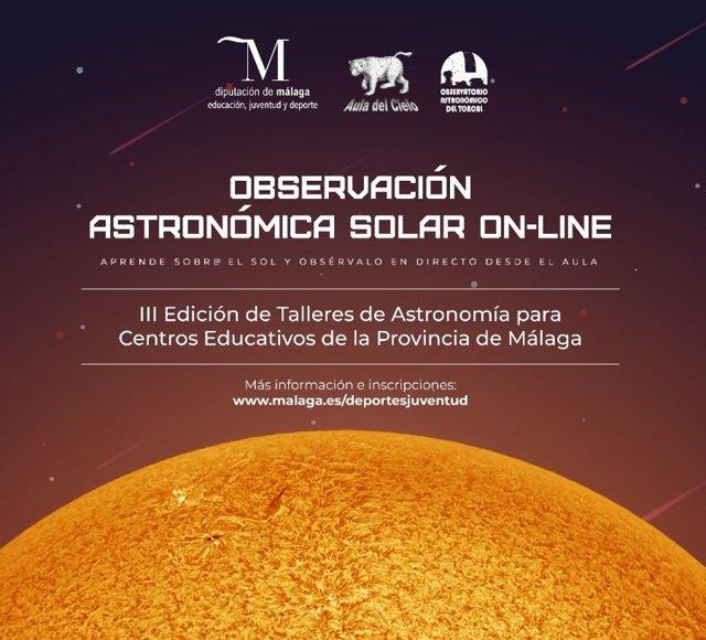 Talleres de observación del sol para escolares de la provincia impulsados por la Diputación