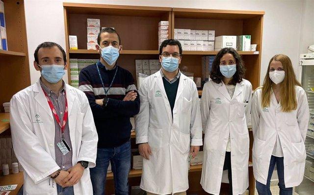Profesionales participantes en el estudio de farmacia