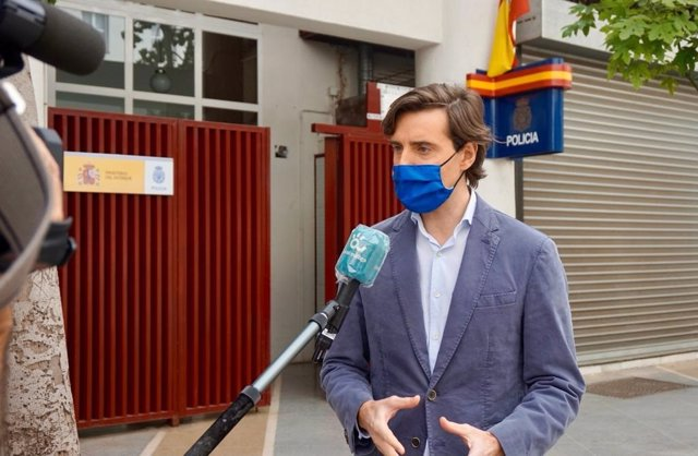 El vicesecretario de Comunicación del PP, Pablo Montesinos, en declaraciones a los periodistas en Málaga