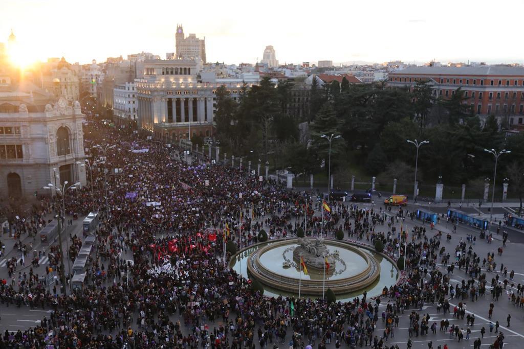 """La Comisión 8M tras la prohibición de actos en Madrid: """"El movimiento feminista estará el 8 de marzo"""""""